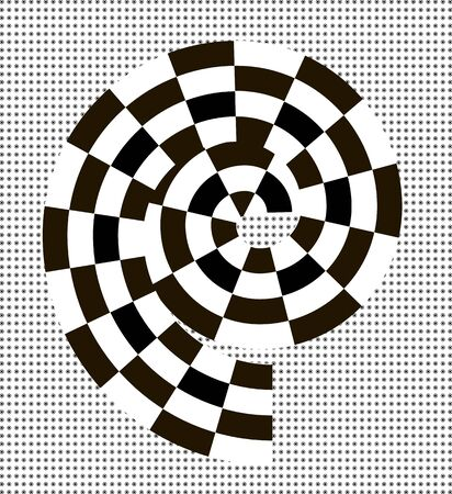 trickery: Black and white abstract spiral. The element for different design