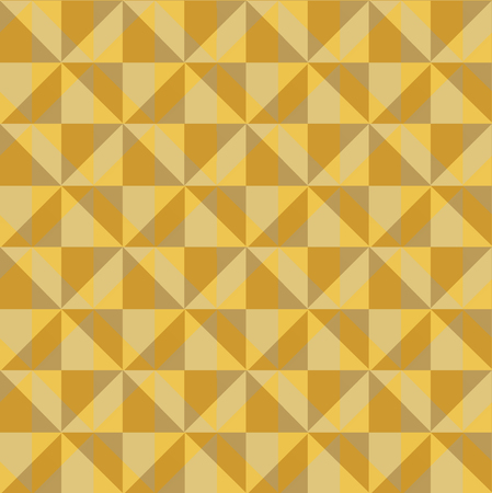convex: Pattern of yellow beige convex squares. Vector seamless