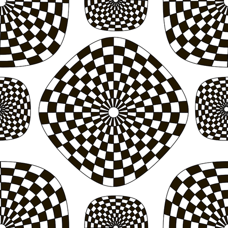 checkerboard backdrop: Pattern of black and white checkered squares vector seamless