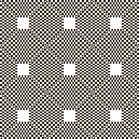 chequered: Monochrome chequered pattern with squares. Illustration