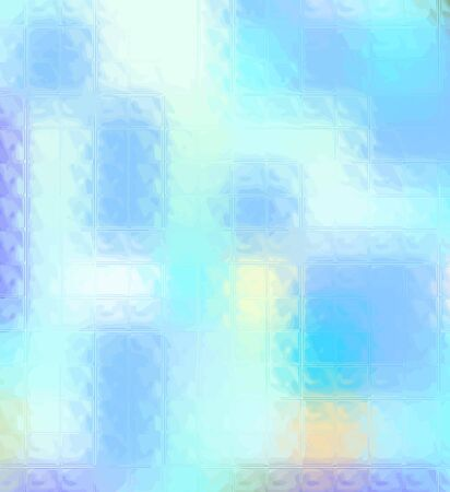 Blue background with glass texture. vector illustration