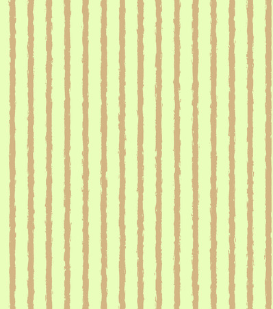 Light green pattern with grungy brown vertical stripes. Vector seamless Vector Illustration