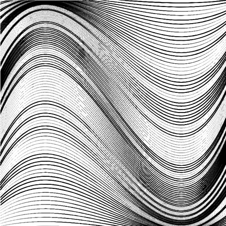wriggle: Abstract background of wavy lines. Black and white vector background Illustration