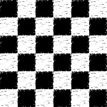 checkered pattern: Black and white grunge checkered pattern.  seamless Illustration