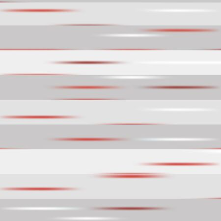 speckles: Grey striped pattern with red speckles. Vector seamless Illustration