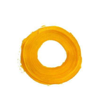 anneau jaune. cercle acrylique jaune. Element for design différent