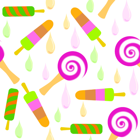 Bright pattern of colorful ice-cream