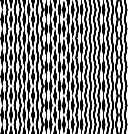 asymmetrical: Abstract asymmetrical pattern of black zigzags and rhombuses. seamless