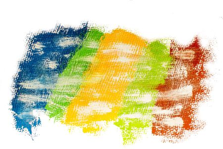 Banner of multicolored paint strips. Abstract colorful painted background Stock Photo