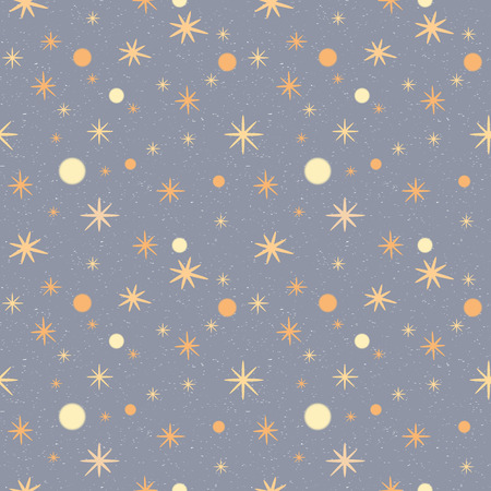 speckled: Pattern with stars on a grey speckled background. Winter seamless pattern.