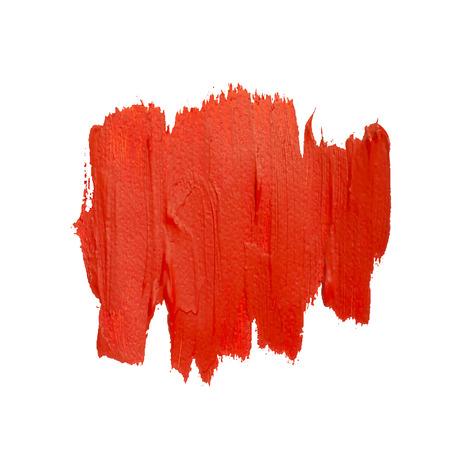 daub: Red vector spot of brush strokes. Red vector grunge daub