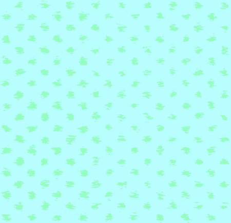 Turquoise spotted pattern. Vector seamless pattern with grunge spots.