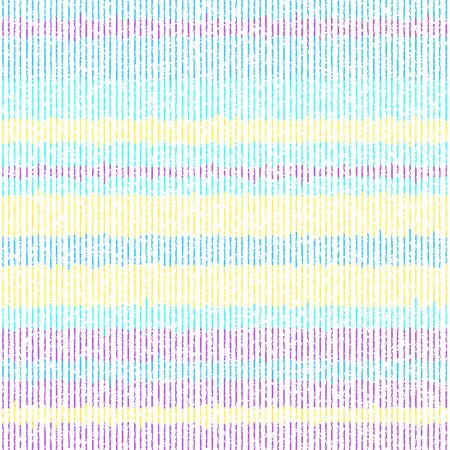 Colorful pattern of thin grunge stripes. Vector seamless pattern Illustration