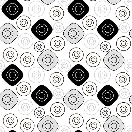patter: Black grey geometric patter. Vector seamless pattern Illustration