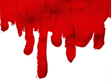 Thick drips of red paint