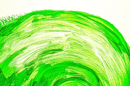Bright green white arc acrylic background Stock Photo