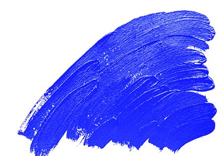 Blue paint brush strokes banner. Design element Stock Photo