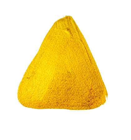 Yellow gold paint triangle. Design element