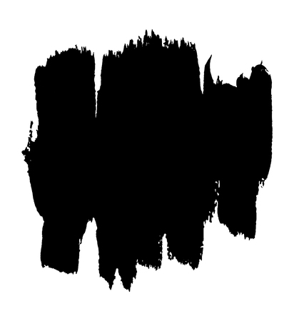Black painted vector banner