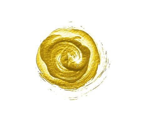 Gold painted circle