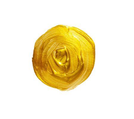 brushstroke: Gold acrylic background. Element for different design