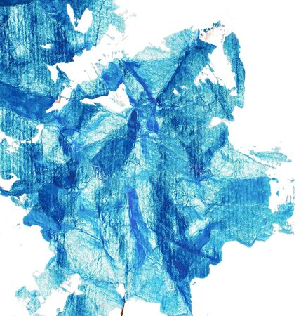 Stain of blue paint Stock Photo