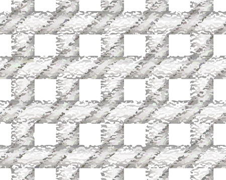 checker: Gray checkered textured pattern. Overlaying vector seamless pattern