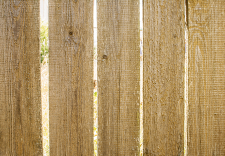 nails: Fragment of the old wooden fence Stock Photo