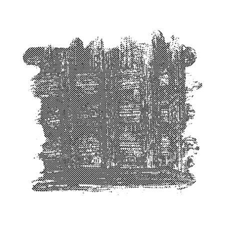 grungy: Black grunge halftone background. Mesh overlaying vector background