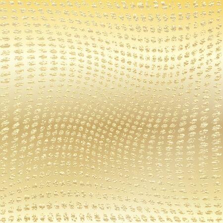 Gold wavy dotted background. Vector background