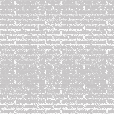 Gray brick wall. Vector background Illustration