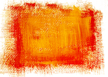 Red yellow grunge painted background. Bright acrylic background