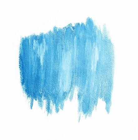 Light blue brushstrokes banner. Acrylic background. Element for different design Stock Photo