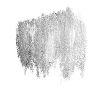 Light silver brushstrokes banner. Acrylic background Stock Photo