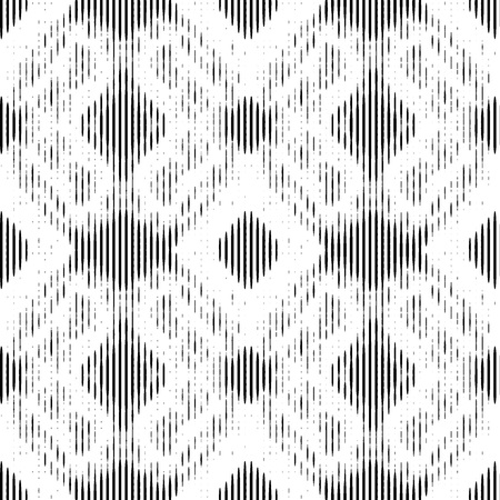 Black geometric lacy pattern. Vector seamless pattern