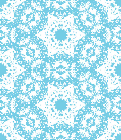 Blue lacy floral pattern. Vector seamless pattern