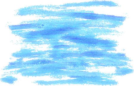 Blue vector brushstrokes background. Modern painted background for posters, brochures, sites, web, cards, interior design Illustration