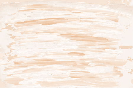 Beige brush strokes background. Pastel vector background as painted watercolor