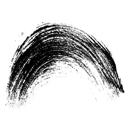 Black arc brush stroke. Vector element for different design