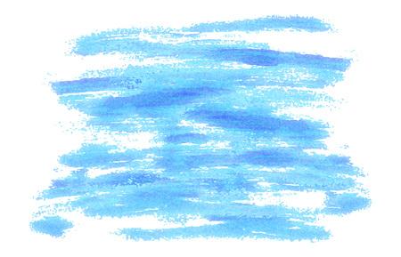 Blauer Pinselstrichhintergrund wie gemalt. Vektor-Illustration. Moderner Hintergrund für Poster, Broschüren, Websites, Web, Karten, Innenarchitektur Vektorgrafik