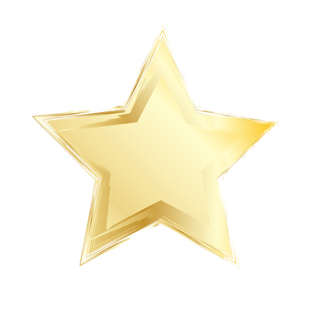 Gold star. Vector element for different design