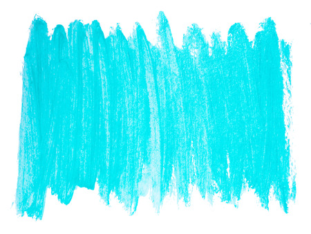 Turquoise acrylic background. Bright painted banner isolated Stock Photo