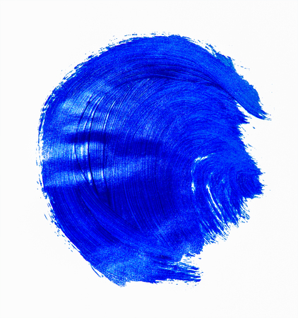 Blue acrylic bruch strokes banner. Design element