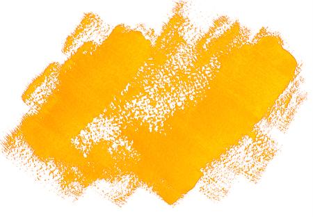 Yellow grunge banner. Handpainted acrylic brush strokes background Stock Photo