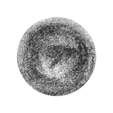 Black halftone circle. Vector element for different design