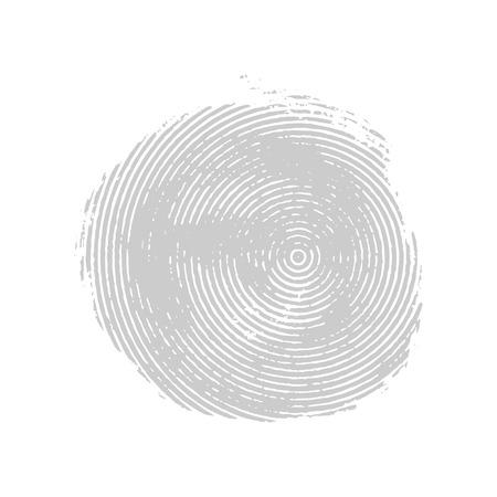 Gray asymmetrical grunge concentric circle. Vector design element