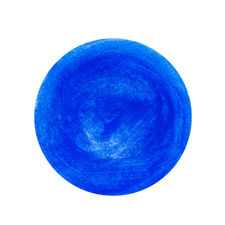Blue painted circle. Vector element for different design