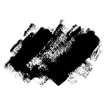 Black grunge brushstrokes. Vector element for different desing Stock Photo