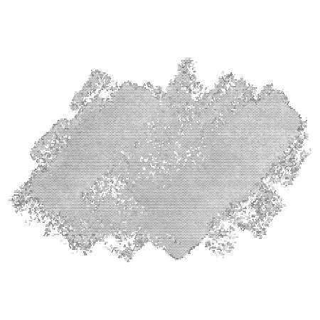 Halftone abstract blob. Vector element for different design Stock Photo