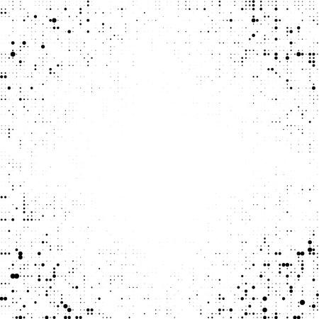 Black dotted background. Halftone frame. Vector modern background for posters, brochures, sites, web, cards, interior design